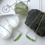 Peridot Chip Healing Bar Necklace